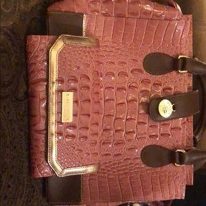 Brahmin Satchel and Matching Checkbook Wallet